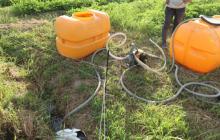 玉ねぎの苗床作りスタート!中山間における真夏の灌水事情